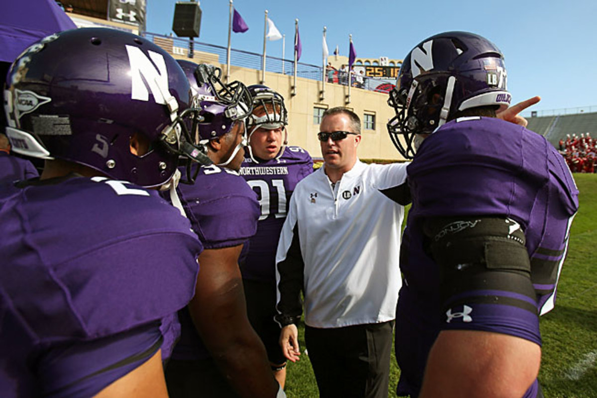Pat Fitzgerald has led Northwestern to five consecutive bowl berths and to a 10-3 record last season.