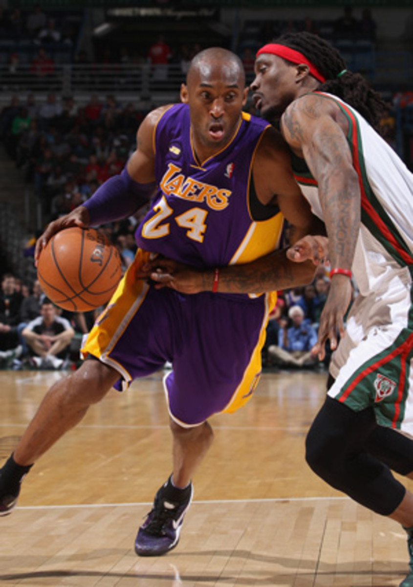 Lakers guard Kobe Brant is suffering from a foot injury. (Gary Dineen/Getty Images)