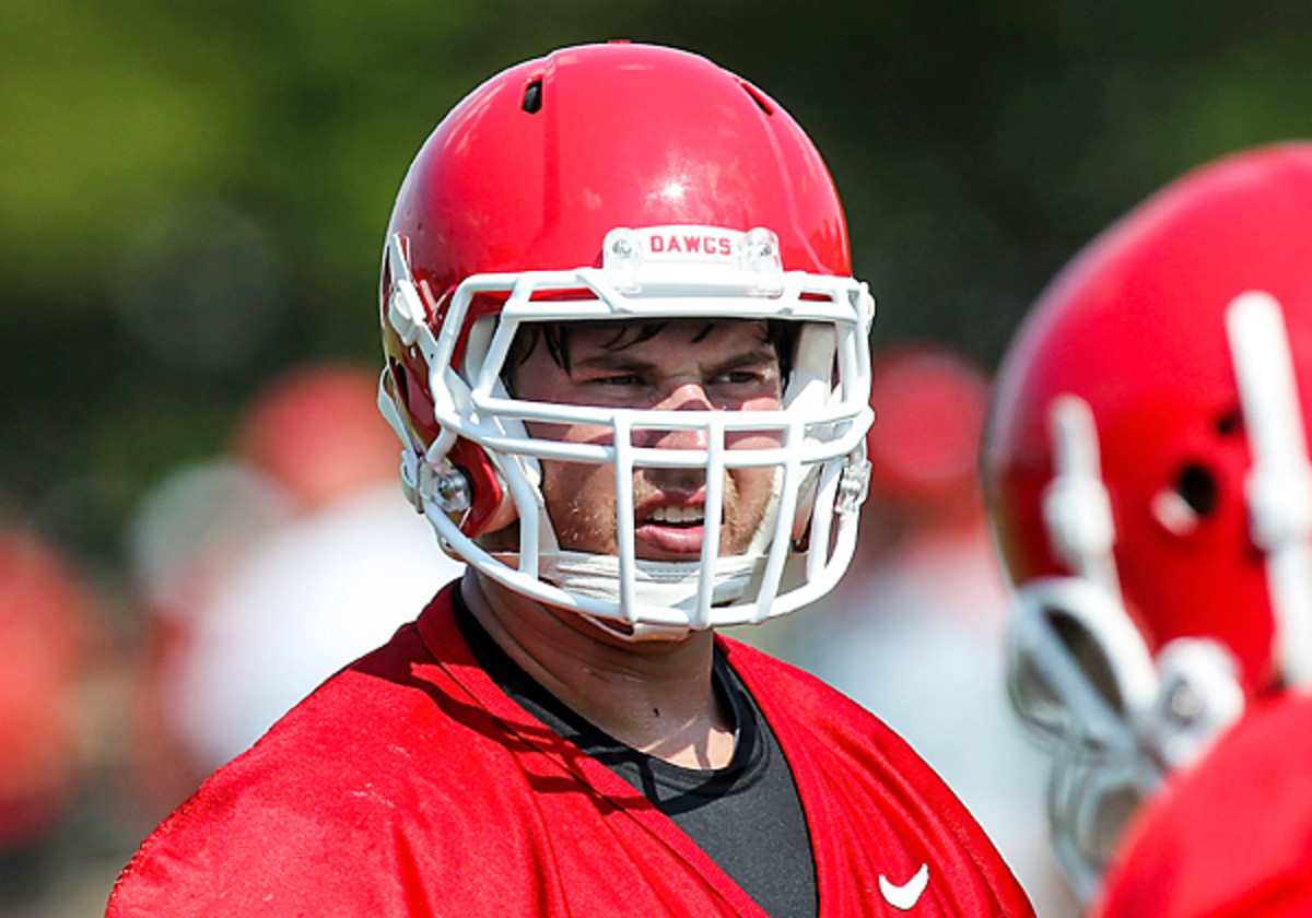 After first being denied an appeal of his PED suspension, Kolton Houston was granted a reprieve and allowed to rejoin the Bulldogs. (Daniel Shirey/AP)