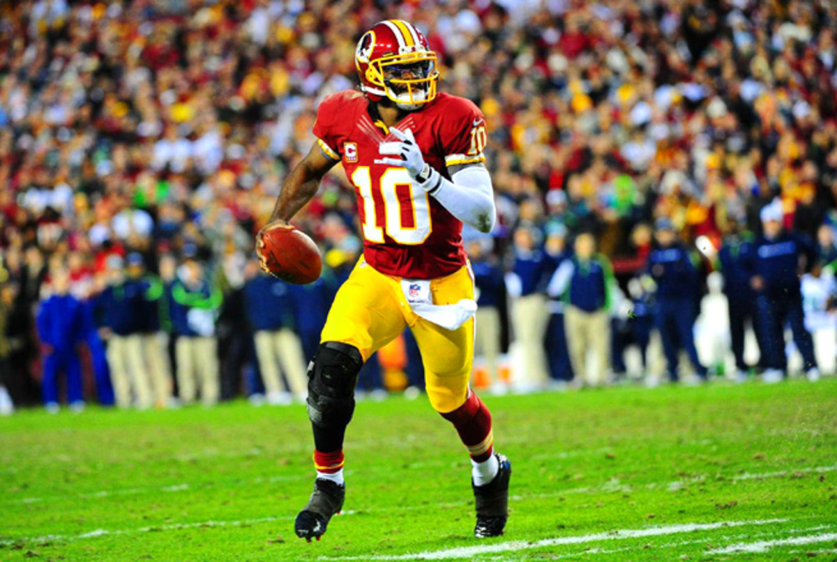 Robert Griffin III threw for 3200 yards and 20 touchdowns, and also rushed for 815 yards in 2012.