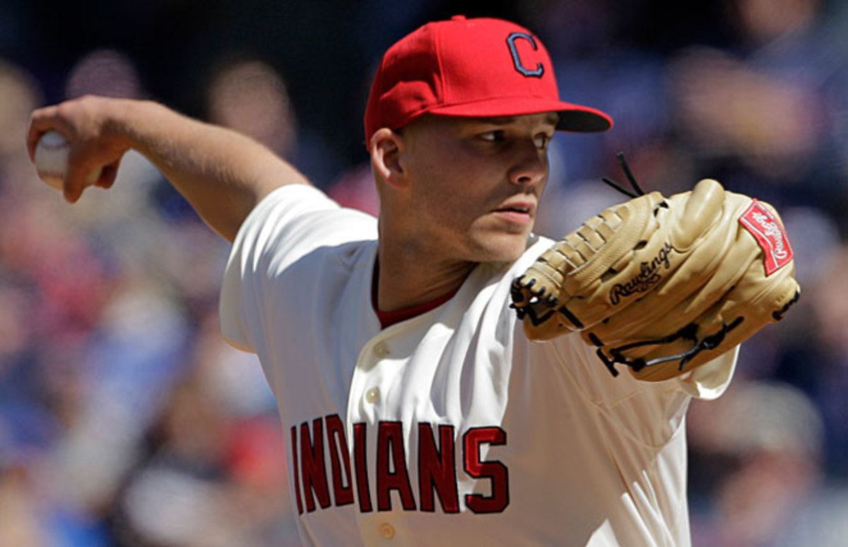 Justin Masterson pitched very well in last year's season opener for Cleveland.