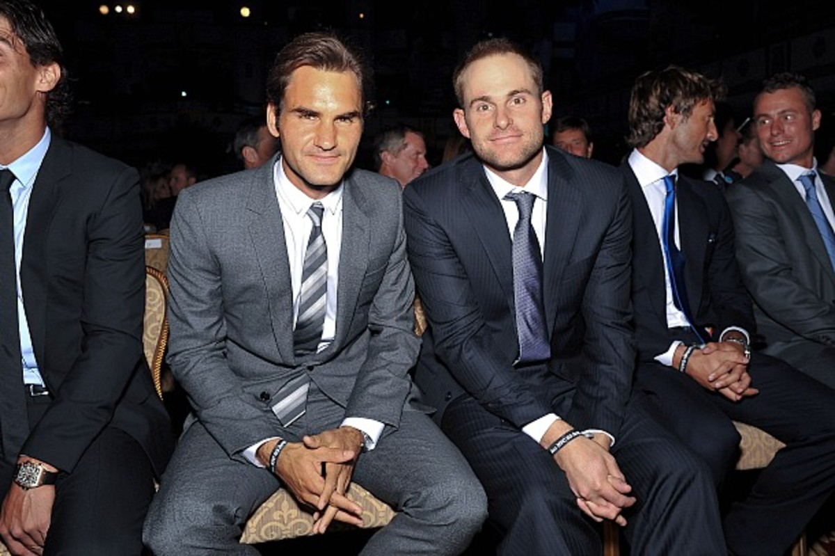 Roger Federer and Andy Roddick faced each other in  four Slam finals. Federer won all of them.  (D. Dipasupil/Getty Images)