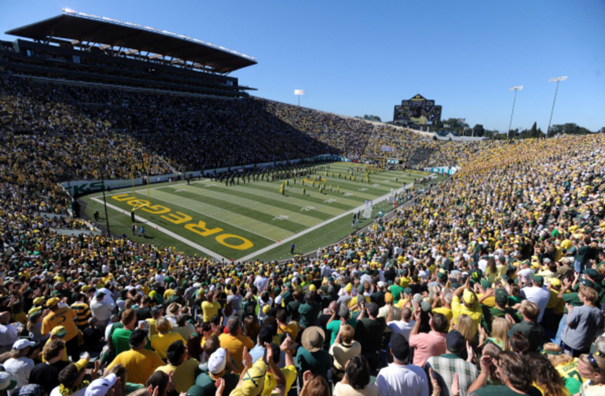 The NCAA's Committee on Infractions will release its report on Oregon's questionable recruiting practices after a 28-month investigation. The report will include proposed penalties. (Steve Dykes/Getty Images)