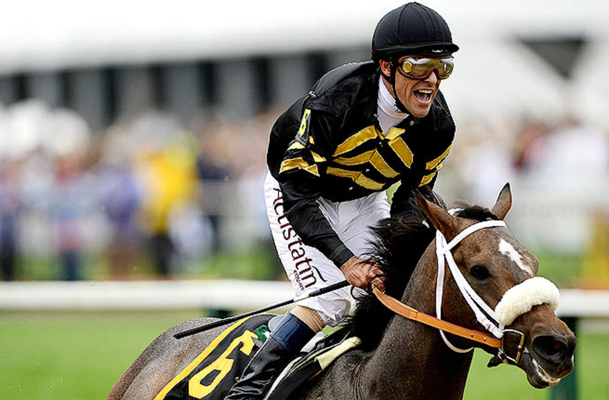 Stevens led from start to finish and won the race by 1 3/4 lengths to end Orb's bid for the Triple Crown.