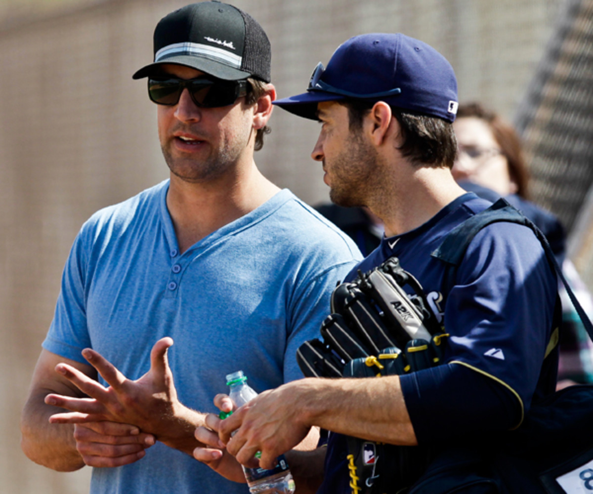 Aaron Rodgers, Ryan Braun :: AP