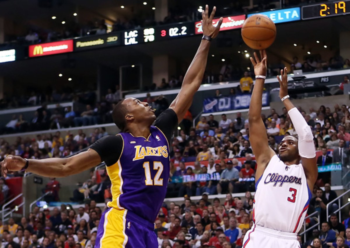 Chris Paul (right) and Dwight Howard are the two biggest names in the 2013 free-agent class. (Christian Petersen/Getty Images)