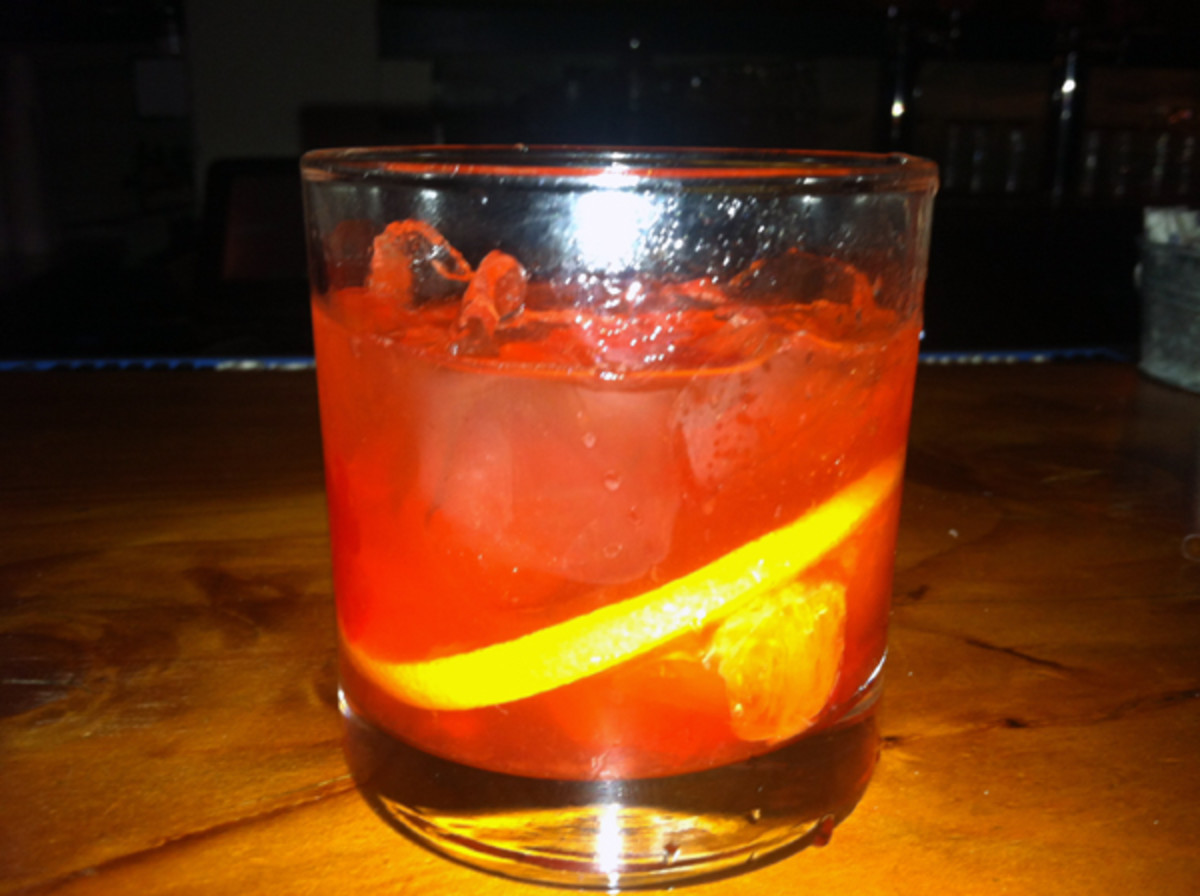 Old Fashioned with bacon-infused Maker's Mark. (Andy Staples)