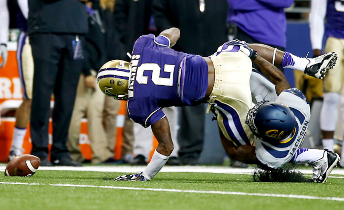 Kasen Williams landed awkwardly after trying to adjust to a pass against Cal on Saturday.