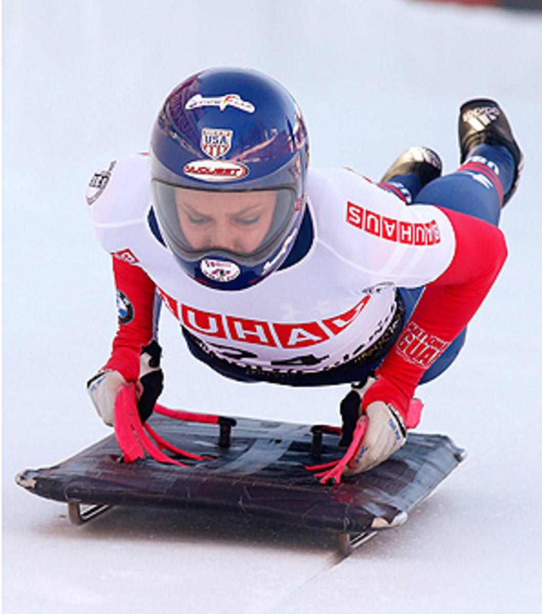 "U.S. skeleton athlete Noelle Pikus-Pace said the Sochi ice track is ""so bumpy"" and ""a mess."""