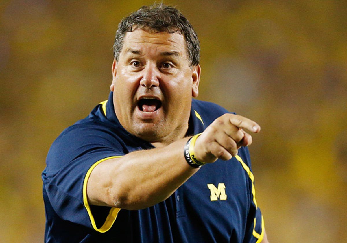 Brady Hoke got a public note of support from Michigan's athletic director as he Wolverines prepare to play Ohio State. (Gregory Shamus/Getty Images)