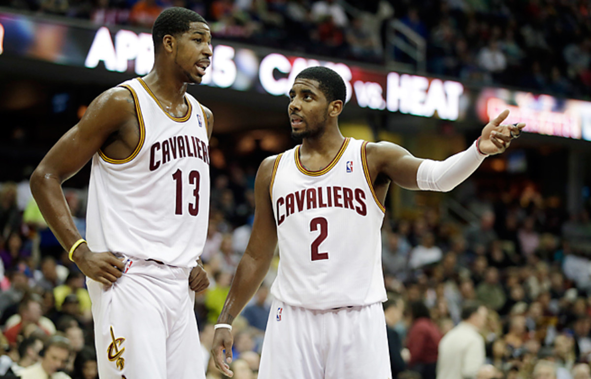 Tristan Thompson and Kyrie Irving both are eligible to receive contract extensions next summer.