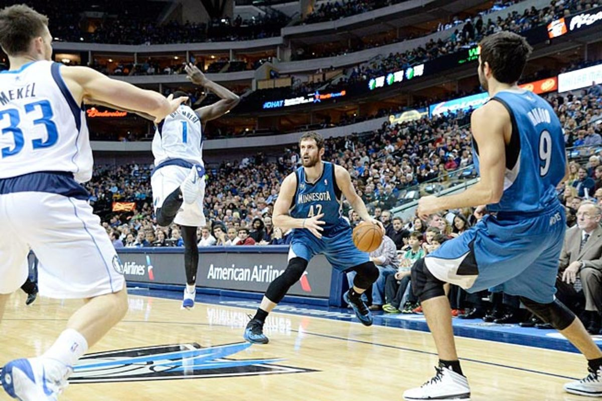 Kevin Love, a versatile scorer, has been working to perfect the difficult step-back three-pointer.