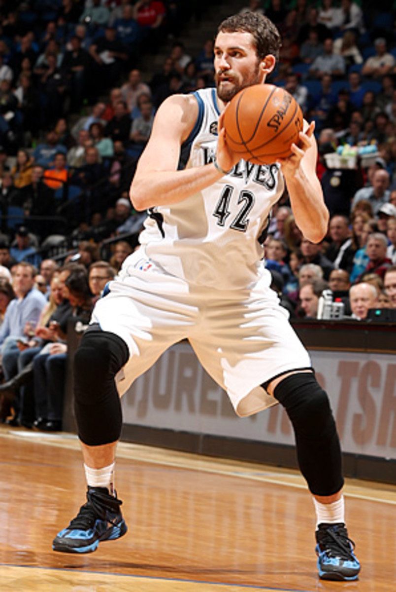 """Dirk Nowitzki says Kevin Love (pictured) """"is way beyond where I was when I was 25."""""""