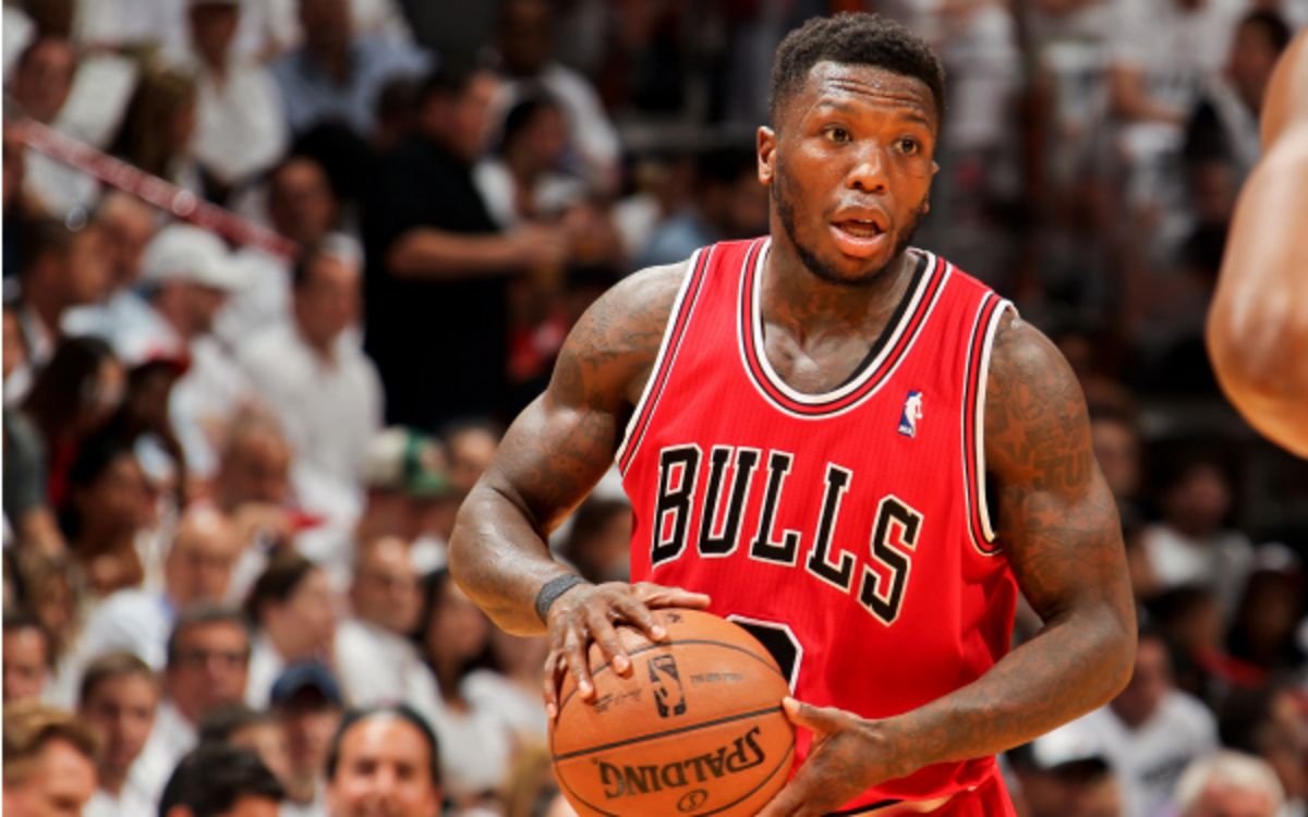 Bulls guard Nate Robinson is reportedly receiving interest from the Knicks and Nuggets. (Issac Baldizon/NBA/Getty Images)