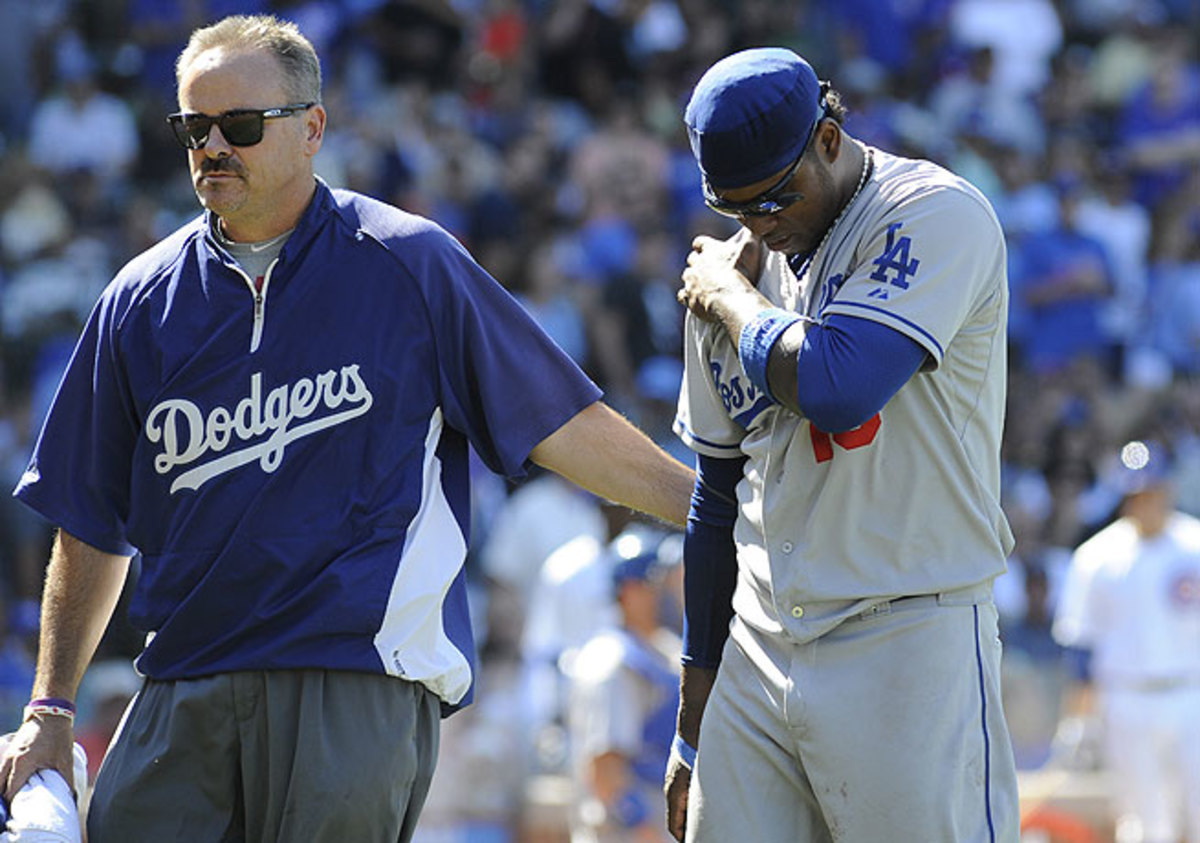 Hanley Ramirez has been slowed by a host of injuries while playing for the Dodgers this year.