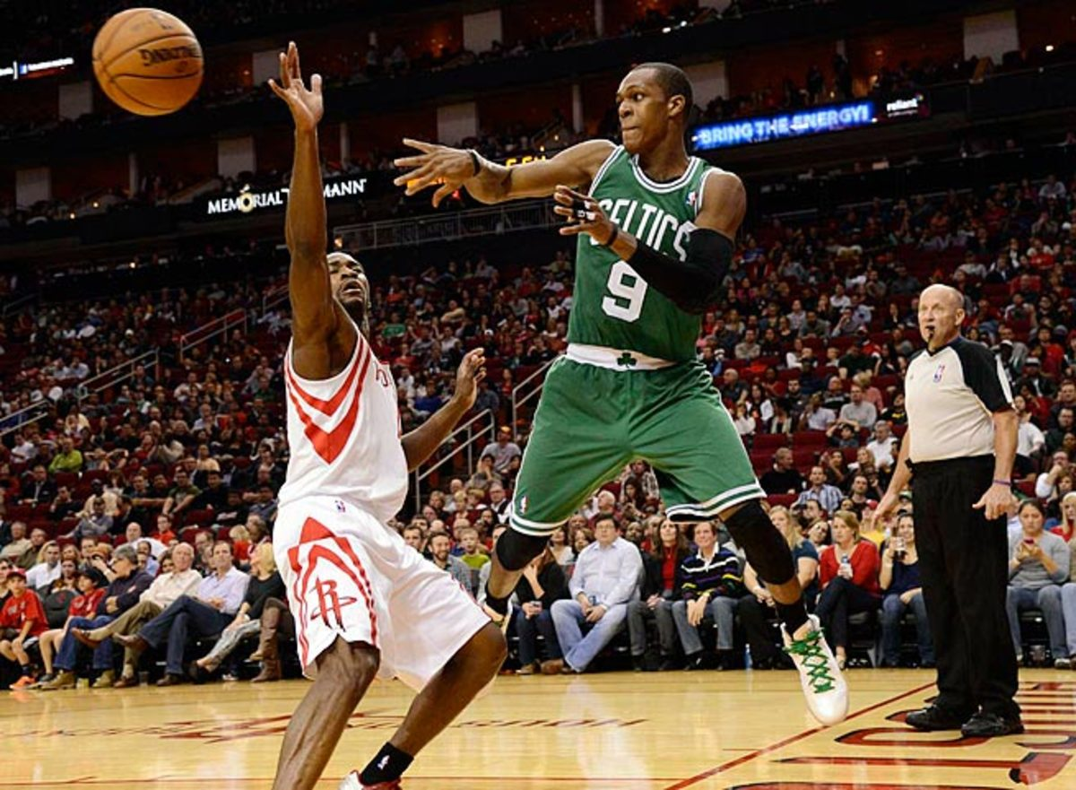 Boston's Rajon Rondo will be playing with a lot of new faces when he returns from a knee injury.