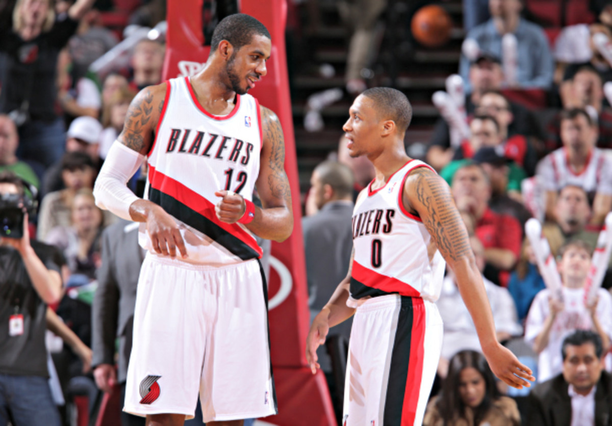 LaMarcus Aldridge (left) and Damian Lillard are building a foundation in Portland. (Sam Forencich/NBAE via Getty Images)