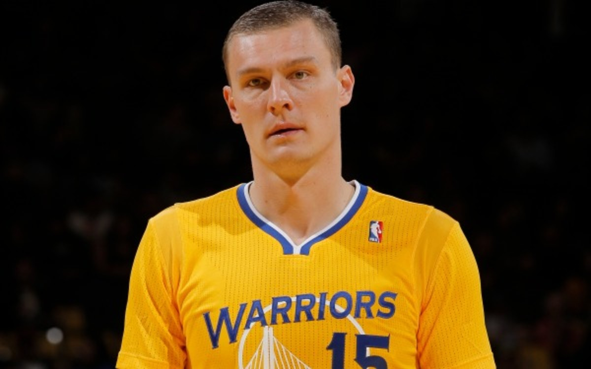 Warriors center Andris Biedrins exercised his player option for next season. (Rocky Widner/NBAE/Getty Images)