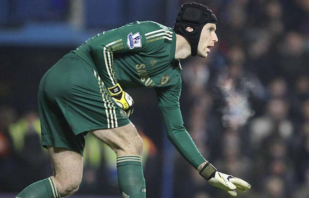 Petr Cech and Chelsea are in third place in the Premier League.