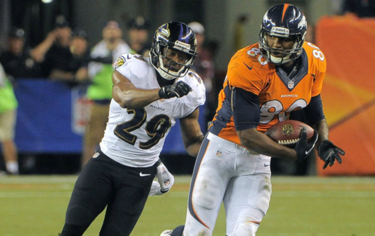 Micahel Huff played against the Broncos for the Ravens in the NFL's season opener. (Baltimore Sun)