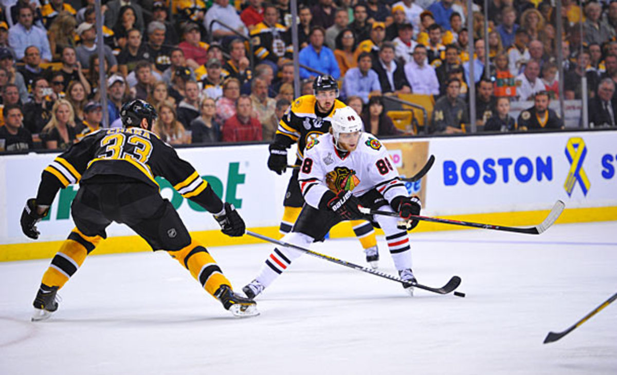 Patrick Kane vs. Boston Briuins in Stanley Cup Final