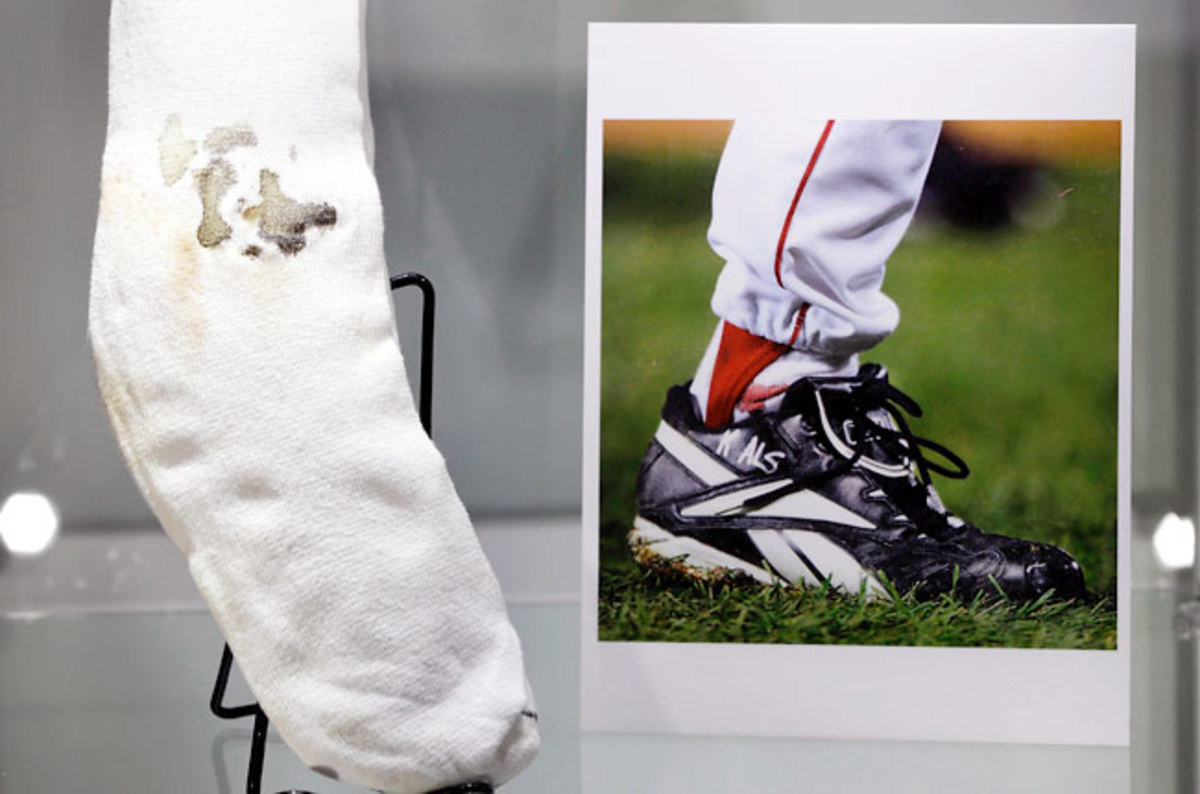 Curt Schilling had loaned his sock to the Hall of Fame before his video game company went bankrupt.
