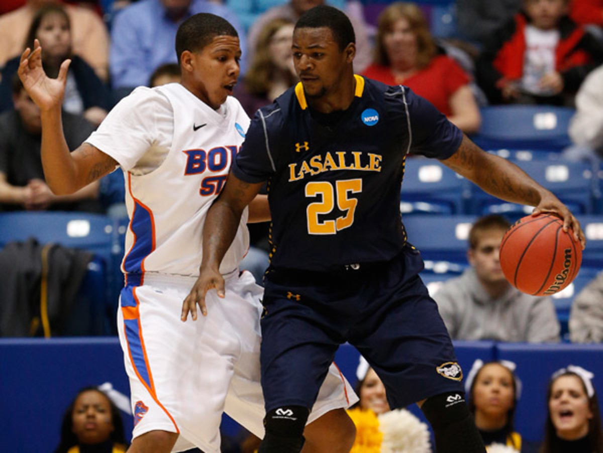 Jerrell Wright and La Salle won their first NCAA tournament game in 19 years by beating Boise State. (Gregory Shamus/Getty Images)