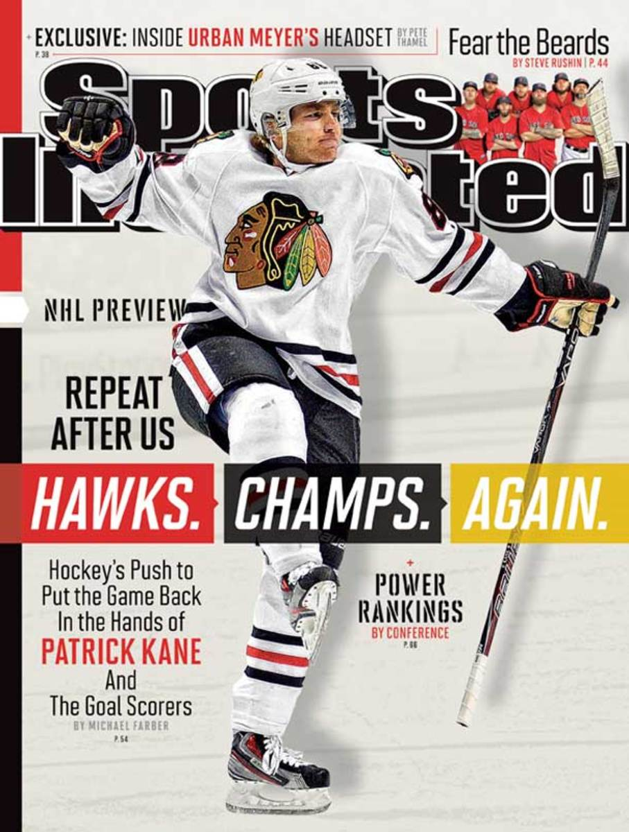 Patrick Kane on the cover of Sports Illustrated's September 30, 2013 NHL preview issue.