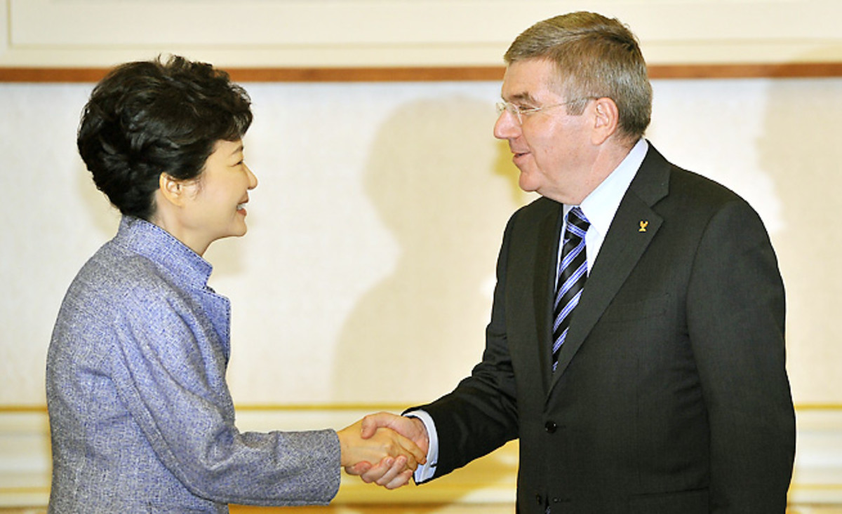 Thomas Bach has globe trotted since his election and met with South Korean President Park Geun-hye on Thursday.