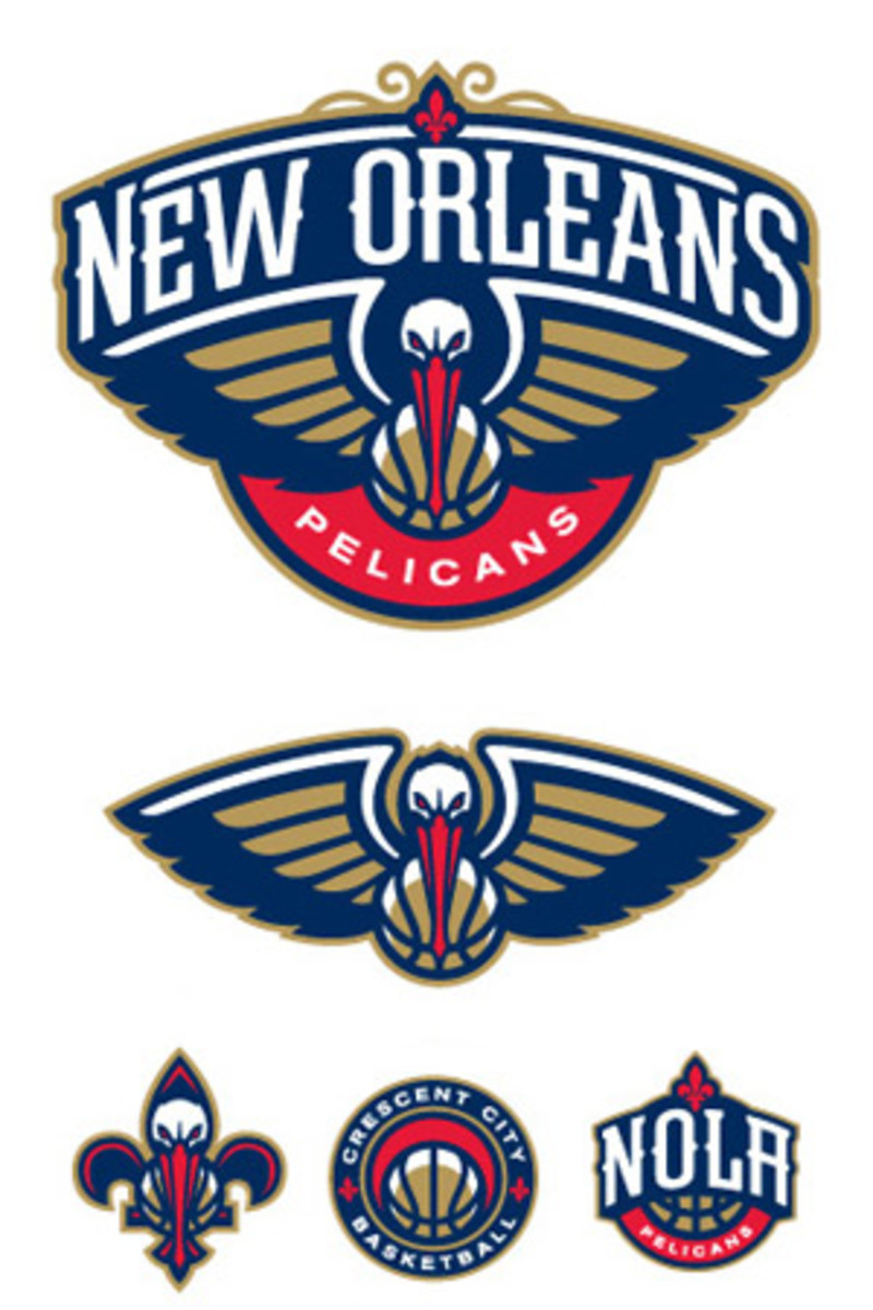 Alternate logos for the New Orleans Pelicans. (NBA.com)