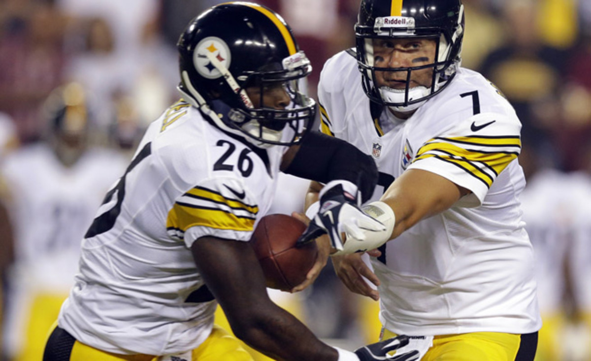 Finally healthy, Le'Veon should be an instant upgrade for Pittsburgh's running game in Week 4.
