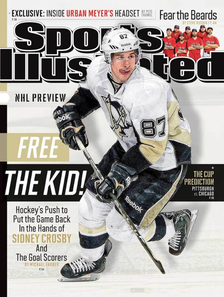 Sidney Crosby on the cover of Sports Illustrated's September 20, 2013 NHL preview issue.