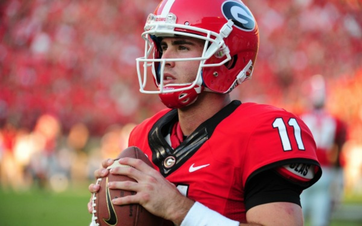 Aaron Murray left the second half of his final home game with a knee injury. (Scott Cunningham/Getty Images)