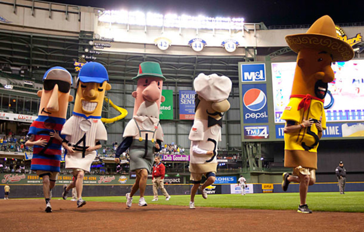 Brewers sausage race