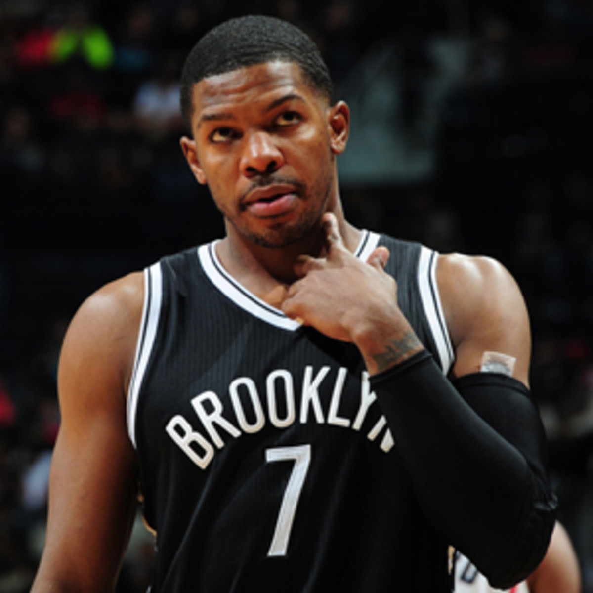 Joe Johnson has been slowed by a sore heel and quad contusion.(Scott Cunningham/NBAE via Getty Images)