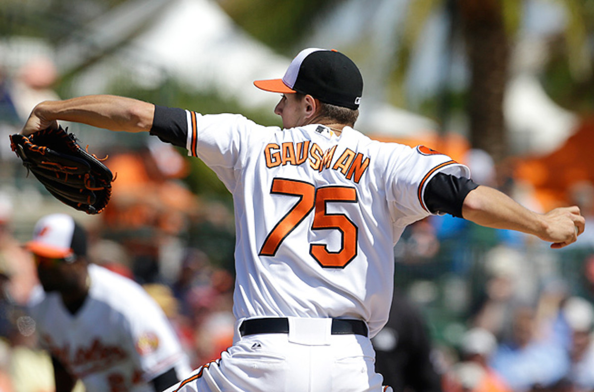 Through six games this year, Kevin Gausman has hurled 32 strikeouts and boasts a 3.53 ERA.