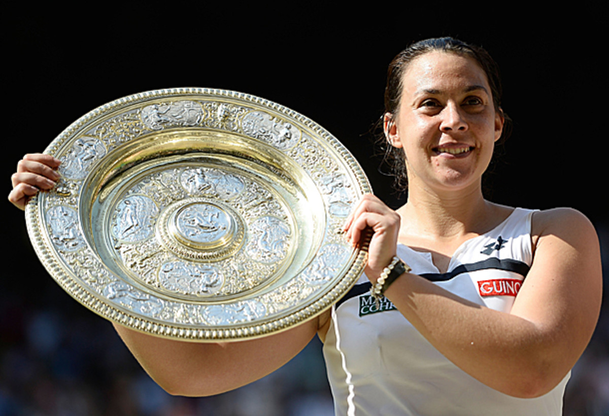 Marion Bartoli became the first Frenchwoman to win Wimbledon since Amelie Mauresmo in 2006. (Dennis Grombkowski/Getty Images)