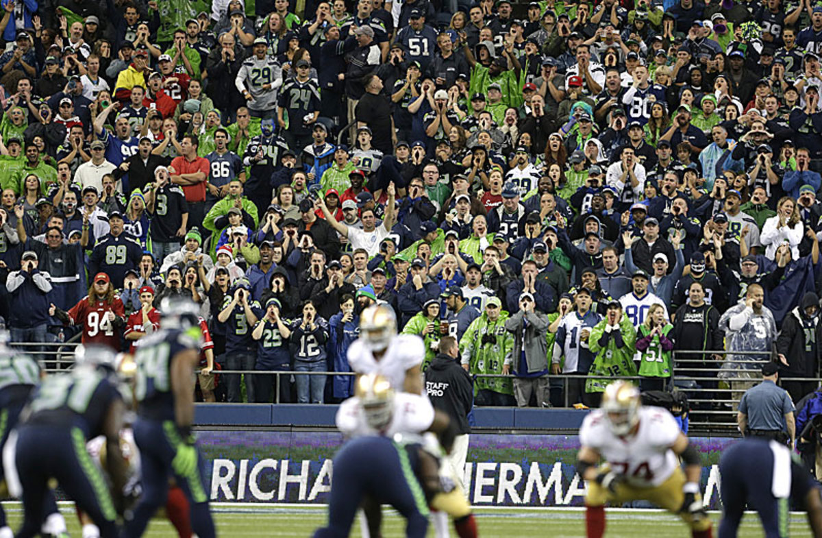 The Seattle crowd made life difficult on the 49ers, to say the least.