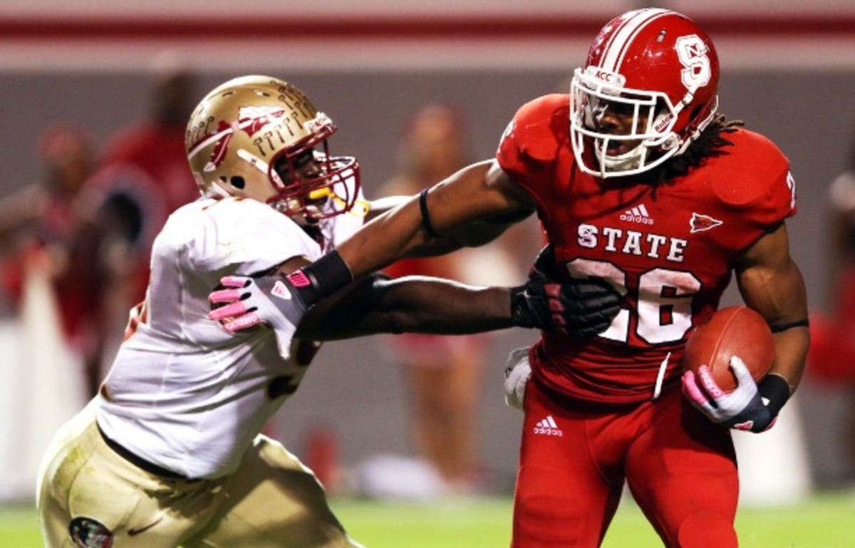"""Cornellius """"Tank"""" Caradine finished second in both tackles and sacks for Florida State in 2012. (Streeter Lecka/Getty Images)"""