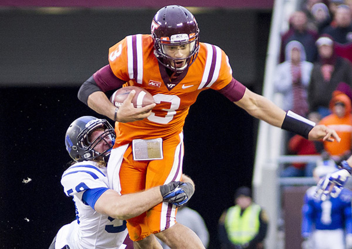 Logan Thomas looks like a late-round gamble at best following a four-interception showing in a loss to Duke.
