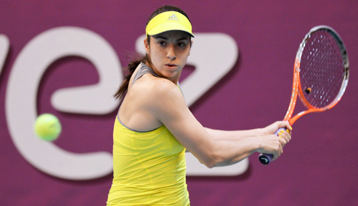 Christina McHale lost only two points serving in the first set and seven in the second set.