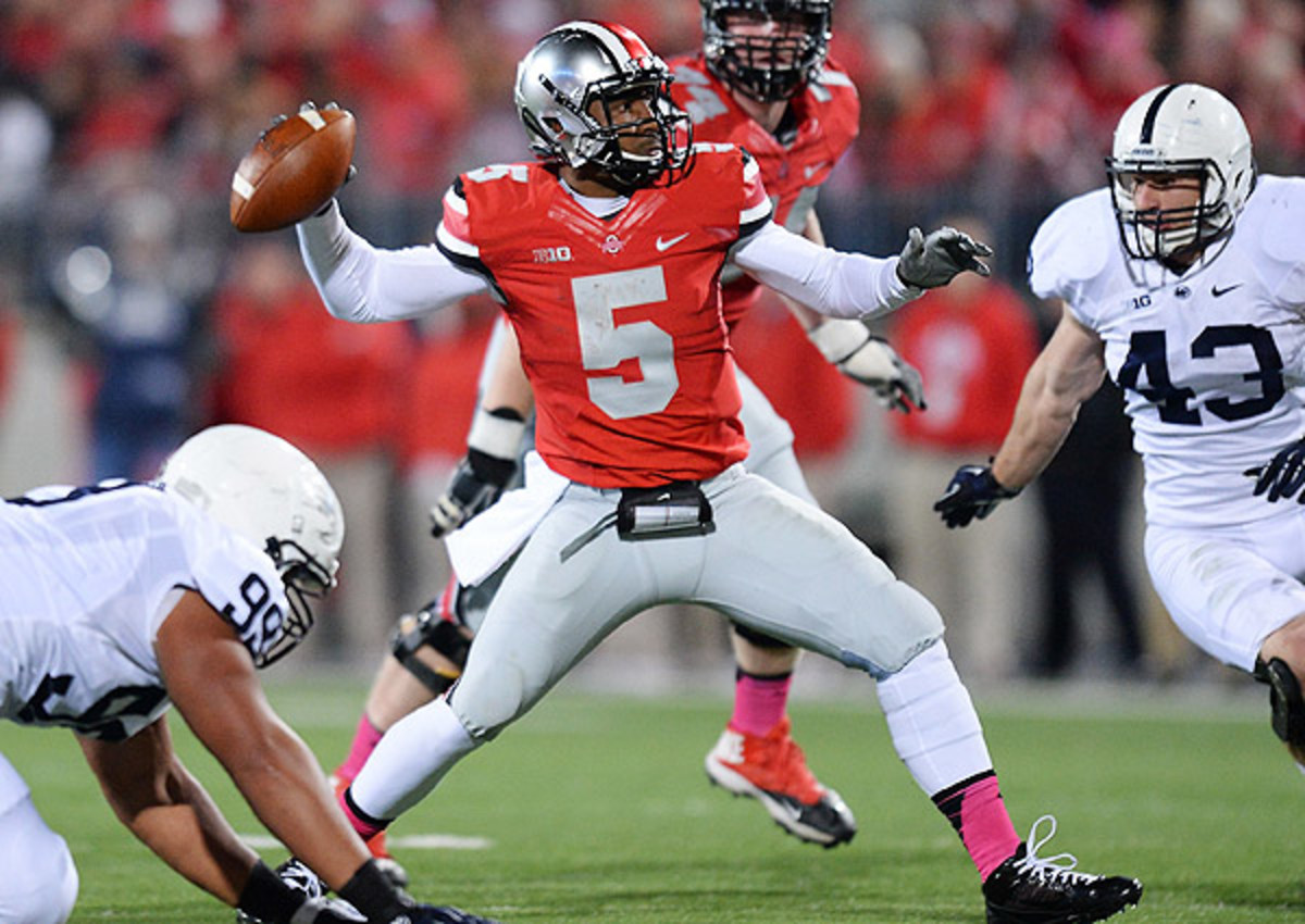 Braxton Miller completed 75 percent of his passes in Ohio State's 63-14 win over Penn State on Saturday.