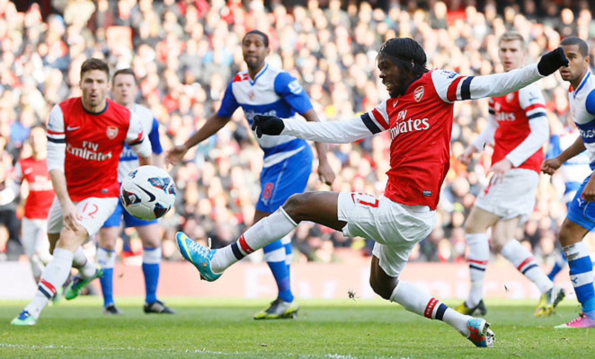 Gervinho scored a goal and added two assists in Arsenal's big victory.