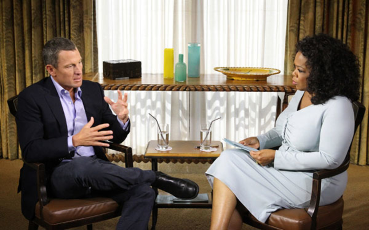 Lance Armstrong, who confessed his doping to Oprah in January, motioned to dismiss the U.S. government's lawsuit against him. (Handout/Getty Images)