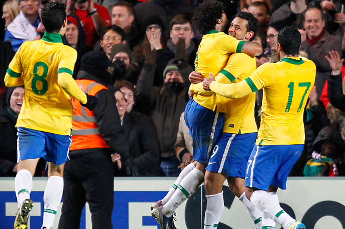 Fred has scored in four straight matches, but Brazil is still winless under manager Luiz Felipe Scolari.
