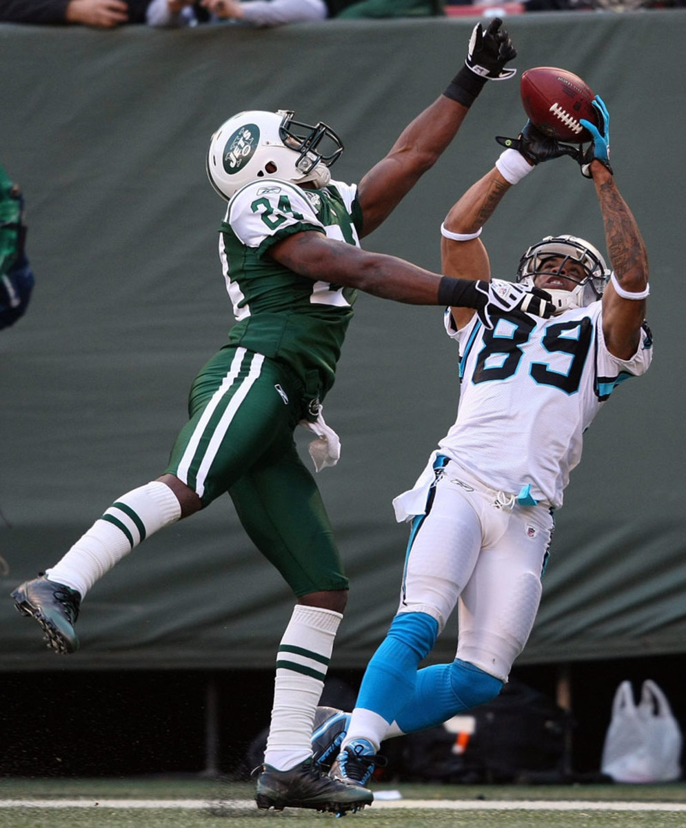 Shown here beating Darrelle Revis in 2009, Steve Smith is still at No. 1 receiver at age 34.