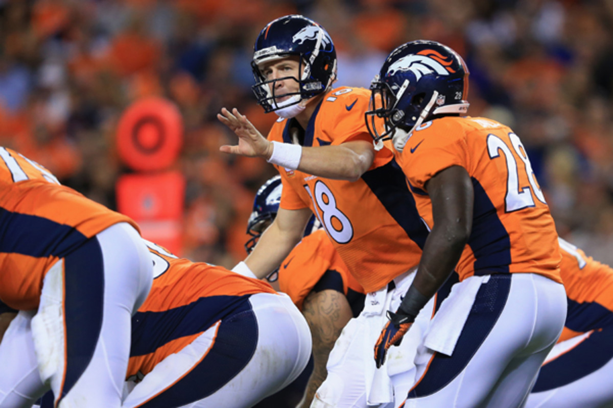 Peyton Manning operated Denver's offense at a rare level... (Doug Pensinger/Getty Images)