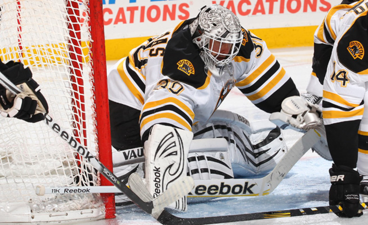 Tim Thomas hasn't played an NHL game since 2011-12, when he won 35 games for the Bruins.