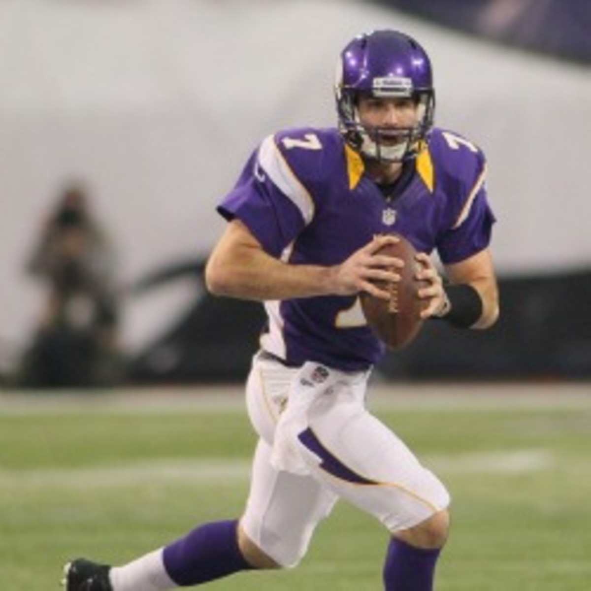 Vikings quarterback Christian Ponder needs to have a big 2013 season if he wants to keep his job.  (Andy King/Getty Images)