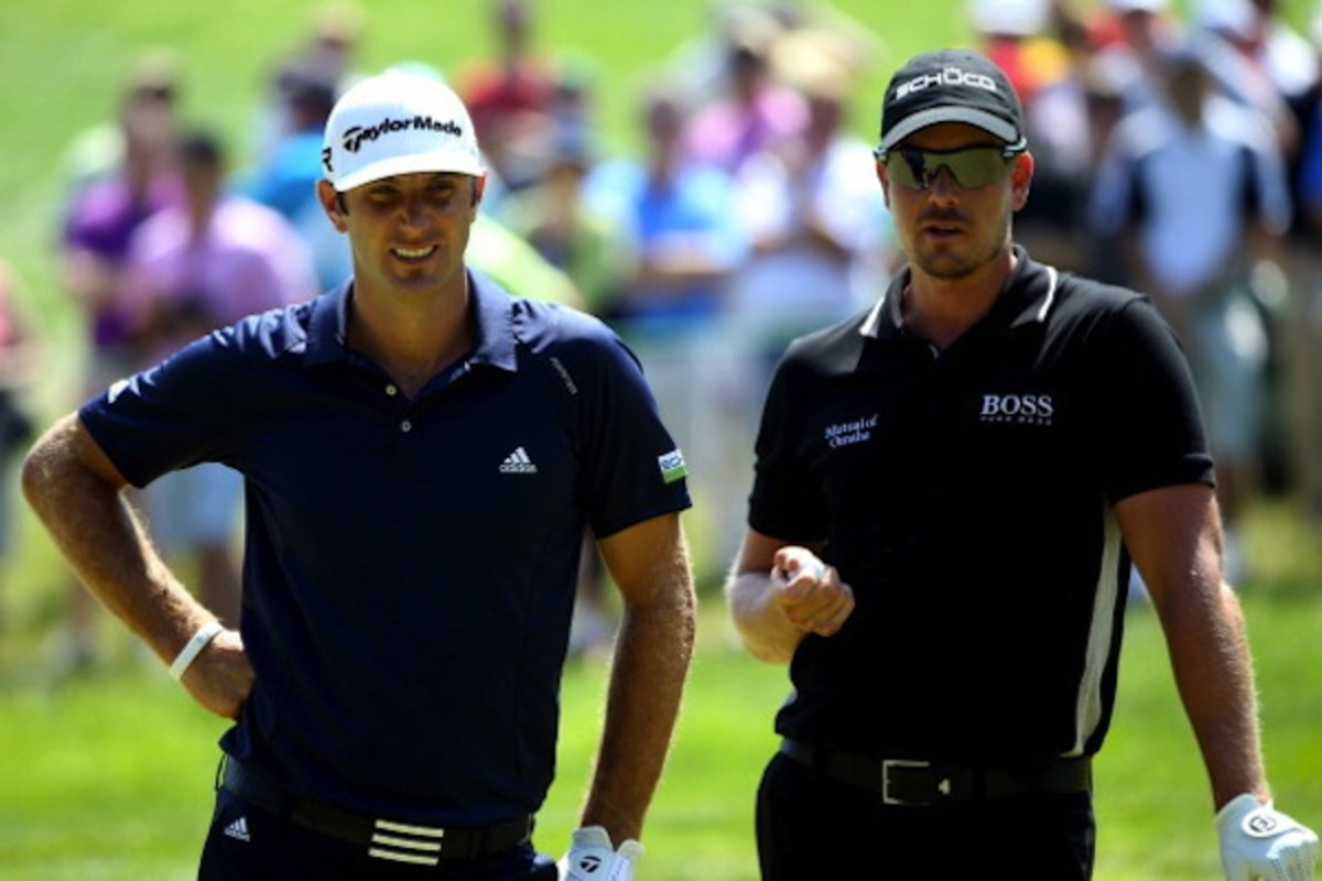 Getty Images Only one of these men is Henrik Stenson. The other is Dustin Johnson.